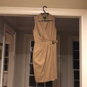 LAUNDRY faux wrap camel dress size 4
